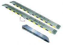 Rampe aluminium pliante sans rebords