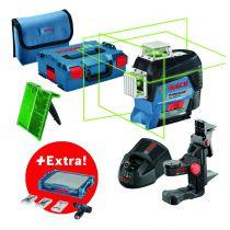 laser lignes GLL 3-80 CG + visseuse sans-fil GSR 12V-15 + 39 accessoires + i-BOXX + i-Rack