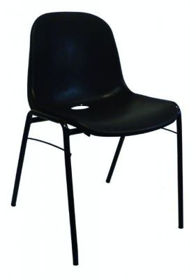 Chaise coquille noire