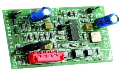 Récepteur radio bi-canal embrochable