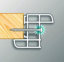 Vis cadre PVC Framex Clip
