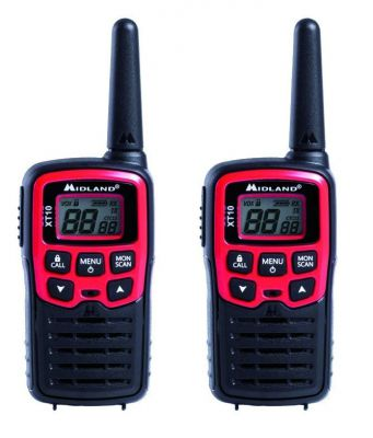 Paire de talkies-walkie 16 canaux radio - Midland XT10