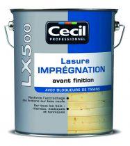 Lasure LX 500 - imprégnation avec finition