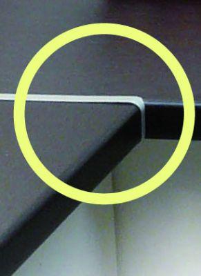 Profils alu plan de travail - profil de jonction aluminium - à visser
