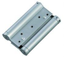 Charnière à ressort double action métallique - Acier verni gris - la paire