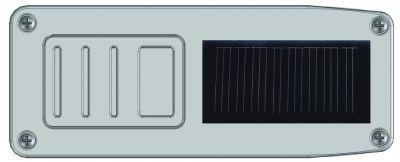 Système radio solaire pour barres palpeuses