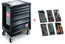 Servante roll 6 tiroirs sécurité + 7 modules