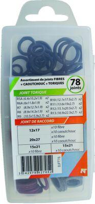 Joints fibre / caoutchouc / torique