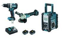 Lot 2 outils 18V 5Ah + radio