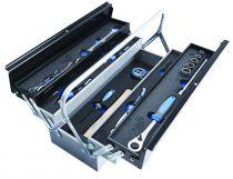 Caisse à outils de 5 cases + 20 outils pour 100 ans Unior