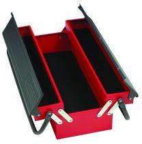 Boîte à outils métallique 1 étage - 3 compartiments