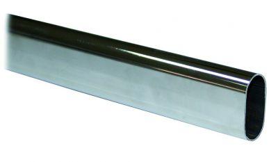 Tube ovale acier - longueur 2,35 m
