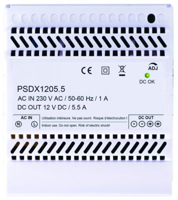 Alimentation non secourue - 12 Vcc 5 modules