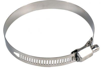 Collier à Bande ajourée 8mm [*** Trés résistant pour son faible encombrement existe en bande de 8 et 14mm acier au chrome ou INO