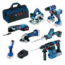 Kit 8 outils 18V - 5Ah et 6AH