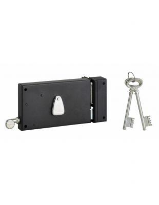 Sûreté à 4 gorges Thirard horizontale à tirage - Carré de 6 mm - 2 clés - 12 variures