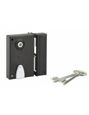 Sûreté à 4 gorges Thirard verticale à fouillot - Carré de 7 mm - 2 clés - 12 variures