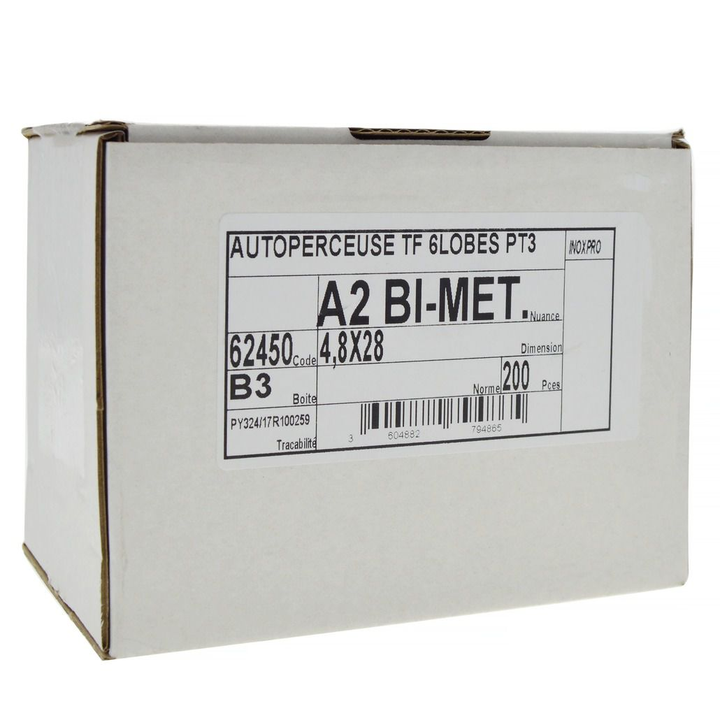 Inox A2 et acier revêtement Ruspert®