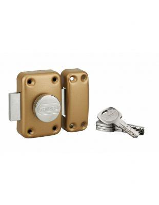 Verrou de haute sûreté clés réversibles a bouton - cylindre 6 goupilles - ø 23