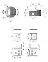 Moraillon kit porte - cadenas + cadenas
