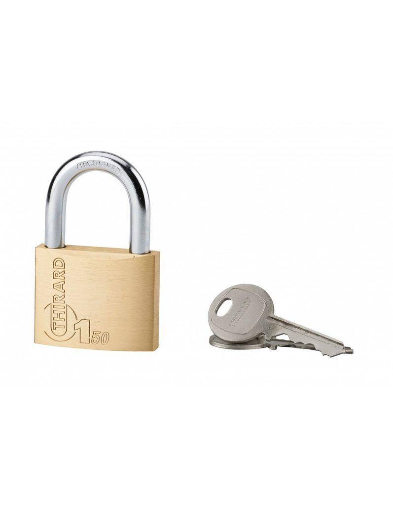 Cadenas à clés laiton - série Type 1