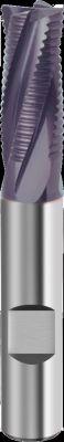Fraise queue cylindrique revêtue denture ébauche HR - 4 dents carbure
