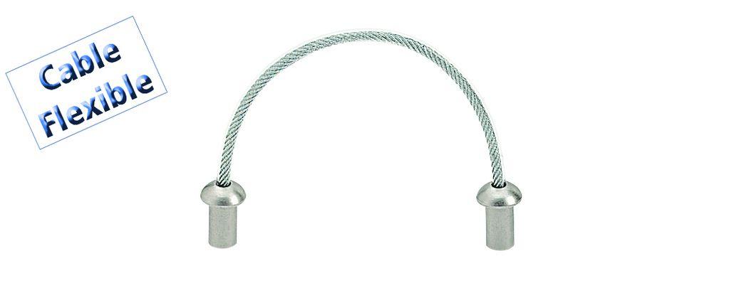 Poignée classique fil acier flexible