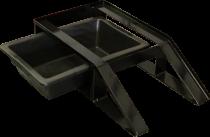 BAC RAMP [*** Kit rampe avec son bac de récupération d'abrasif pour une vidange facile des cuves d'aérogommeuses DECAP 8 10 25.
