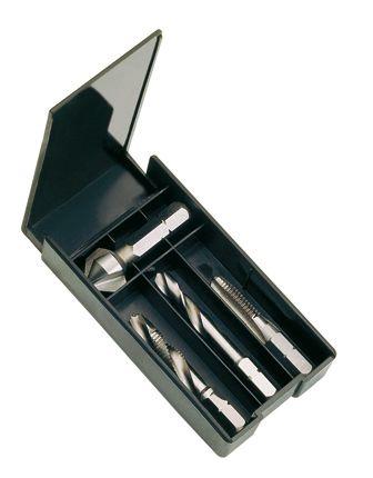 Coffrets et mallette pas métrique iso coffret plastique 4 pièces - acier HSS