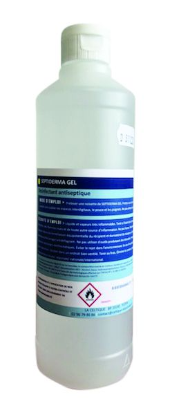 Gel hydro-alcoolique SEPTIDERMA