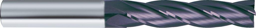 Fraise carbure queue cylindrique revêtue - 4 dents