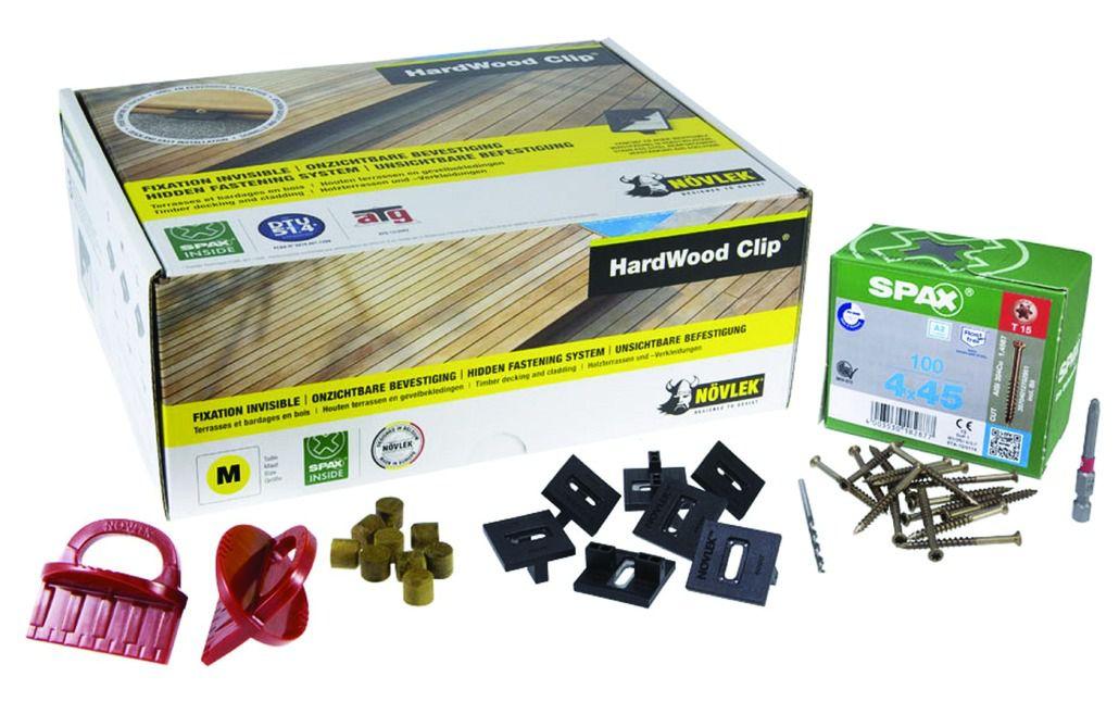 Kit de fixation pour terrasse bois - Hardwood clip - inox A2