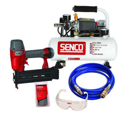 Lot cloueur FinishPro 18 Mg + compresseur AC4504 et accessoires