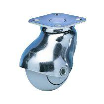 Roulette Tono chromée - à platine 42 x 42 mm
