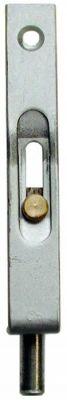 Verrou à larder a poussoir - à tétière plate 16 mm