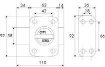 A bouton - cylindre 5 goupilles ø 23 - série Iseo City