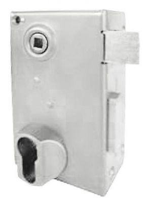 A cylindre européen pêne 1/2 tour à équerre - verticale à fouillot - Carré de 7 mm