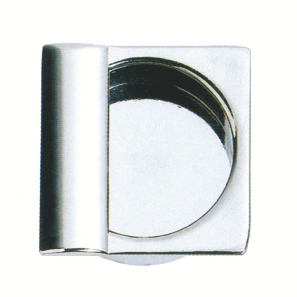 A encastrer - platine carrée zamack - profondeur 14 mm