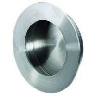 A encastrer - platine ronde acier inox - profondeur 12 mm