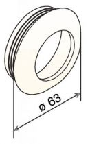 A encastrer - poignée cuvette ronde nylon - profondeur 13 mm