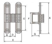 A lames - axe acier inoxydable