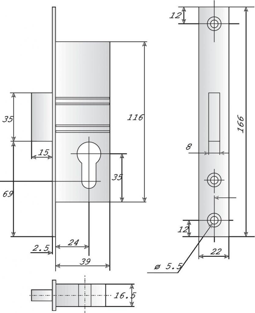 A larder têtière inox Stremler 1 point - 2162