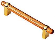 A pattes - bois vernis et embases métalliques