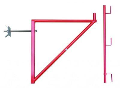 Accessoires pour échafaudages console de façade compatible planche acier