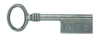 Acier - clé ovale