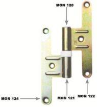 Acier bichromaté - accessoires pour paumelle réglable