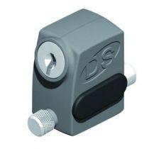Verrou arrêt de vantail à clé pour fixation en applique - Réf DS2586 - pêne inox