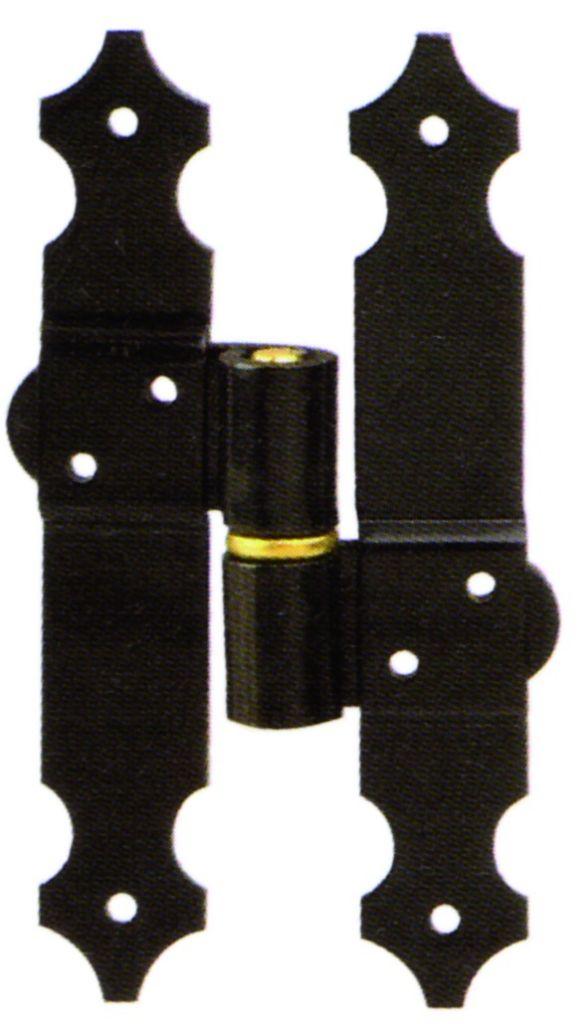 Articulation pour double vantail trou carré avec circlips anti - vent