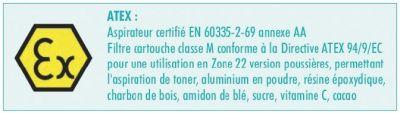 """Aspirateurs industriels Sidamo XC 70 - eau et poussières """"zone Atex"""""""