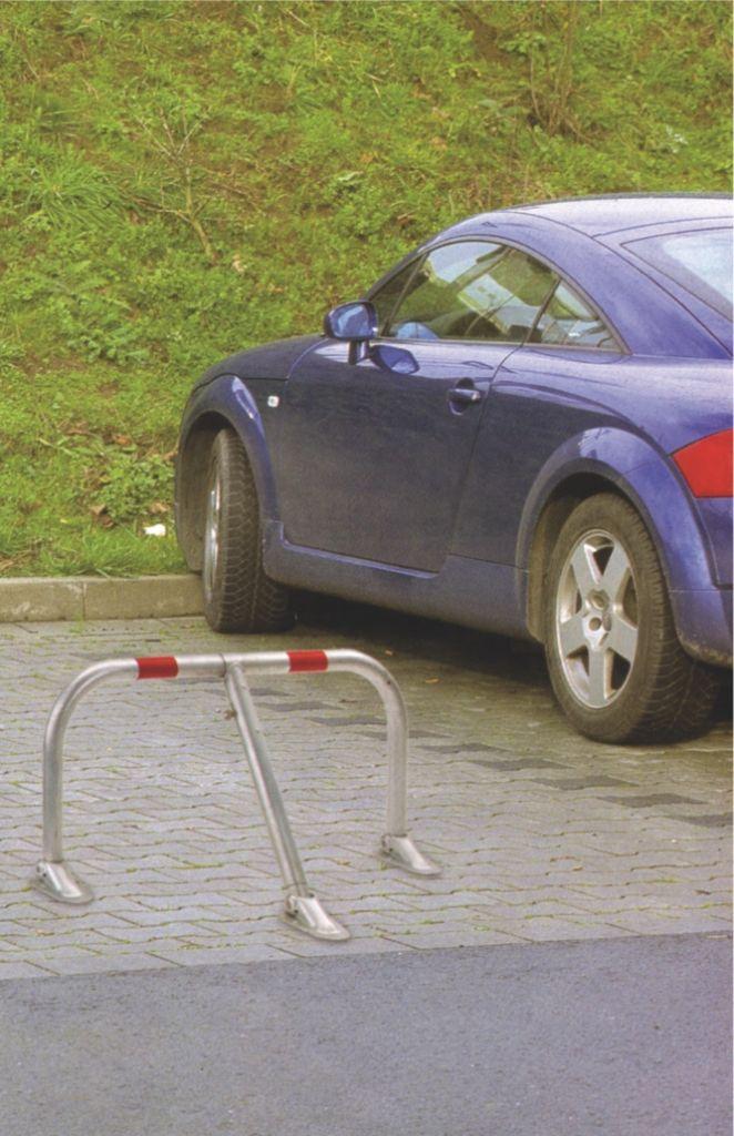 Bloc-parking renforcé galvanisé avec 3 pieds articulés